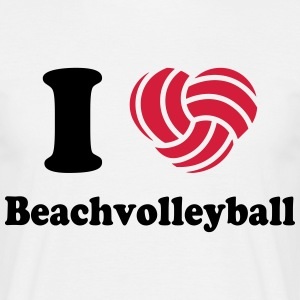 I love Beachvolleyball MP T-Shirts - Männer T-Shirt