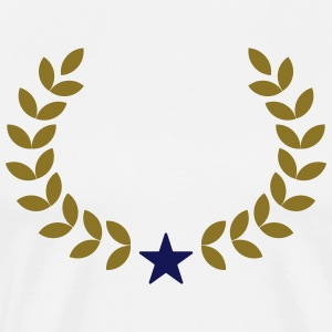 Laurel Wreath Your Text, Star, Winner, Best, Award T-Shirts - Men's Premium T-Shirt
