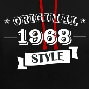 Original 1968 style sweater & hoodies - Contrast Colour Hoodie