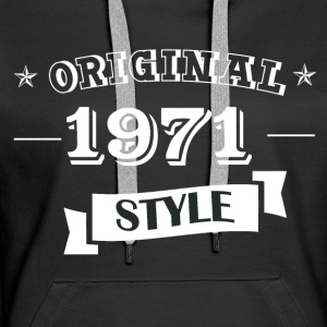 Original 1971 style sweater & hoodies - Women's Premium Hoodie