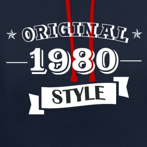 Original 1980 style sweater & hoodies - Contrast Colour Hoodie