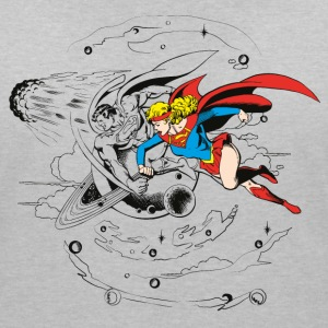 DC Comics Originals Superman Supergirl Rétro - T-shirt col V Femme