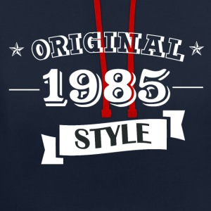 Original 1985 style sweater & hoodies - Contrast Colour Hoodie