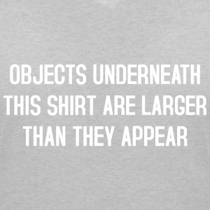 Objects underneath this shirt T-Shirts - Frauen T-Shirt mit V-Ausschnitt