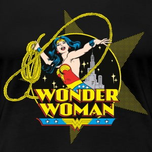 DC Comics Originals Wonder Woman Attacks - Vrouwen Premium T-shirt