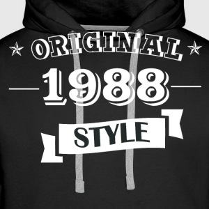 Original 1988 style sweater & hoodies - Men's Premium Hoodie