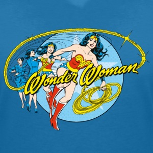 DC Comics Originals Wonder Woman Diana Prince - T-skjorte med V-utsnitt for kvinner