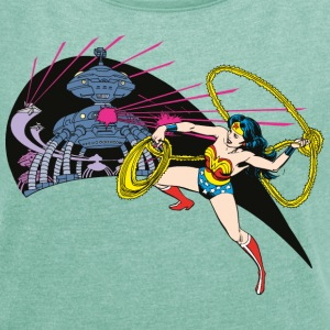 DC Comics Originals Wonder Woman Fighting - T-skjorte med rulleermer for kvinner
