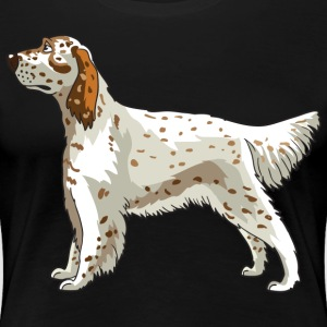English Setter Dog - Women's Premium T-Shirt