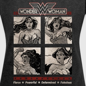 DC Comics Originals Wonder Woman Poses - T-skjorte med rulleermer for kvinner