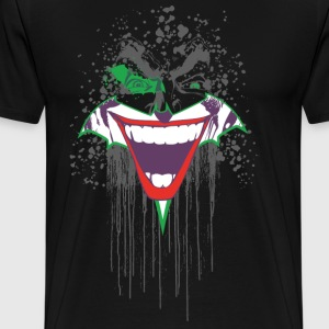 DC Comics Originals Joker Batman Batsignal - Premium T-skjorte for menn