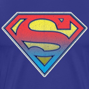 DC Comics Originals Superman Retro Logo Bunt - Männer Premium T-Shirt