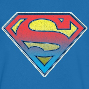 DC Comics Originals Superman Retro Logo - T-skjorte med V-utsnitt for menn