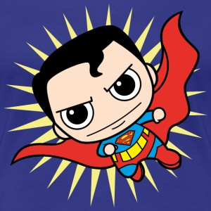 DC Comics Originals Superman Clark Kent Chibi - Premium T-skjorte for kvinner