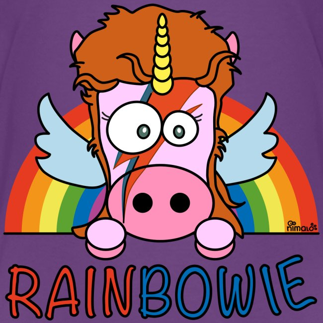 T-shirt Ado Unicorn, Licorne RainBow-ie