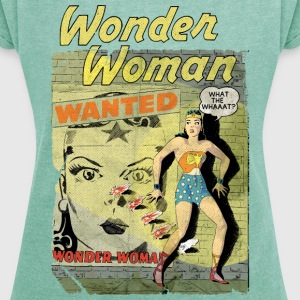DC Comics Originals Wonder Woman Wanted Rétro - T-shirt Femme à manches retroussées