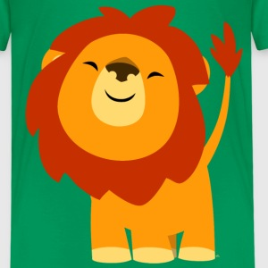 Cute Euphoric Cartoon Lion by Cheerful Madness!! Shirts - Kids' Premium T-Shirt