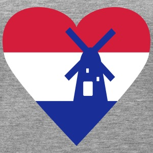 Netherlands Holland Heart Tops - Women's Premium Tank Top