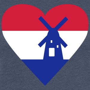 Netherlands Holland Heart T-Shirts - Women's Premium T-Shirt