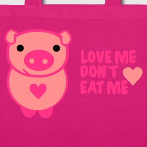 Schwarz love! dont eat Taschen - EarthPositive Tote Bag