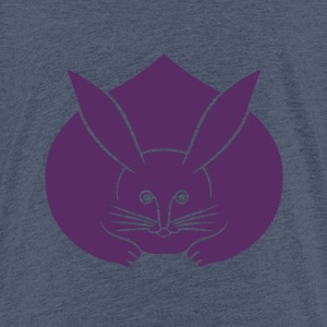 Usagi kamon japanese rabbit in purple Shirts - Teenage Premium T-Shirt