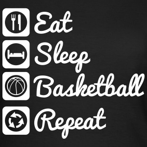 Eat,sleep,basketball,repeat,Basketballer - Frauen T-Shirt