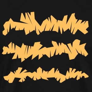 Orange Line T-Shirt Design - Männer Premium T-Shirt