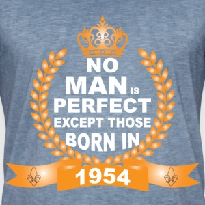 No Man is Perfect Except Those Born in 1954 T-Shirts - Men's Vintage T-Shirt