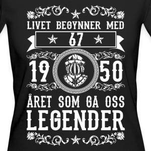 1950 - 67 ar - Legender - 2017 - NO T-shirts - Ekologisk T-shirt dam