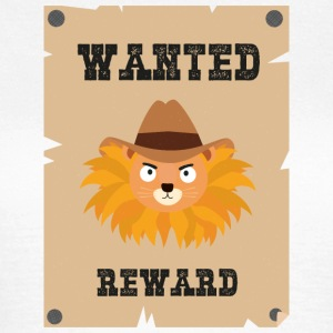 Wanted Wildwest lion poster Stg7j T-Shirts - Frauen T-Shirt