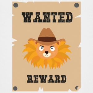 Wanted Wildwest lion poster Stg7j T-Shirts - Teenager Premium T-Shirt