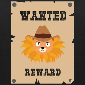 Wanted Wildwest lion poster Sinxg T-Shirts - Women's V-Neck T-Shirt