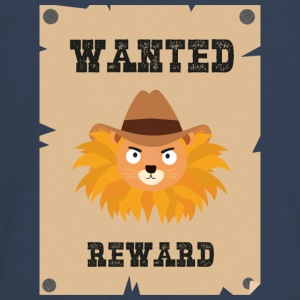 Wanted Wildwest lion poster Sinxg Long Sleeve Shirts - Teenagers' Premium Longsleeve Shirt