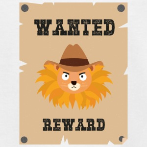 Wanted Wildwest lion poster Sinxg Shirts - Teenage T-shirt