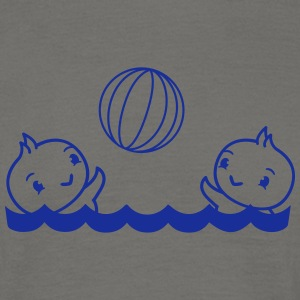 Swimming pool fun playing ball vacation pool sea w T-Shirts - Men's T-Shirt