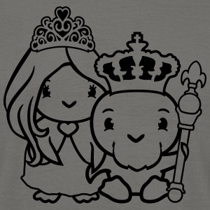 Couple love queen princess pretty woman ruler king T-Shirts - Men's T-Shirt