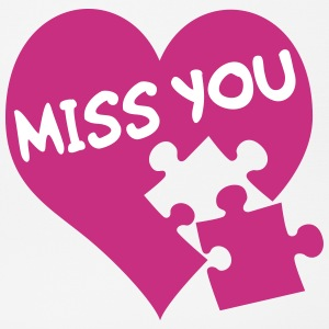 Miss you / I miss you / Du fehlst Sonstige - Mousepad (Querformat)