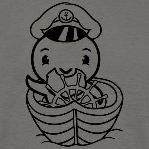 Captain boat ship sail sailor seaman water chick c T-Shirts - Men's T-Shirt