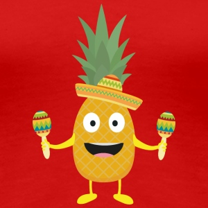 Pineapple Fiesta Sombrero Party Slm5s T-Shirts - Women's Premium T-Shirt