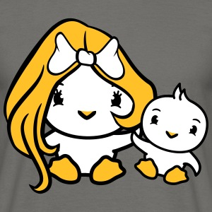Young mummy family girl girl woman female pretty l T-Shirts - Men's T-Shirt