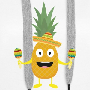 Ananas Fiesta Sombrero Party Slm5s Sweat-shirts - Sweat-shirt à capuche Premium pour femmes