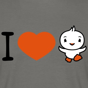 I love chick run run cute cute little baby child d T-Shirts - Men's T-Shirt