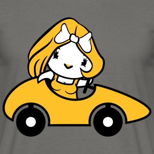Girl woman female sexy pretty chick fun waving car T-Shirts - Men's T-Shirt