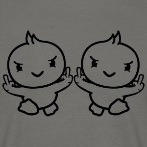 2 friends team couple gang evil insulting middle f T-Shirts - Men's T-Shirt