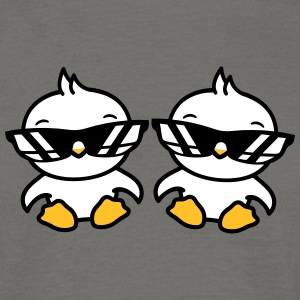 2 friends brother christening team chick cool sung T-Shirts - Men's T-Shirt