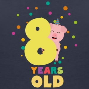 Eight Years old Eighth Birthday Party 3e3 T-Shirts - Women's V-Neck T-Shirt
