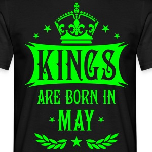 Kings are born in May Krone King Star T-Shirt - Männer T-Shirt