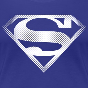 DC Comics Originals Superman Retro Symbol - Dame premium T-shirt