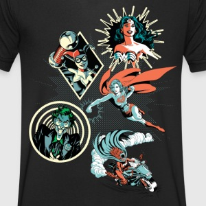 DC Comics Originals Harley Wonder Woman Joker - Mannen T-shirt met V-hals