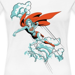 DC Comics Originals Supergirl Fliegt Wolken - Frauen Premium T-Shirt